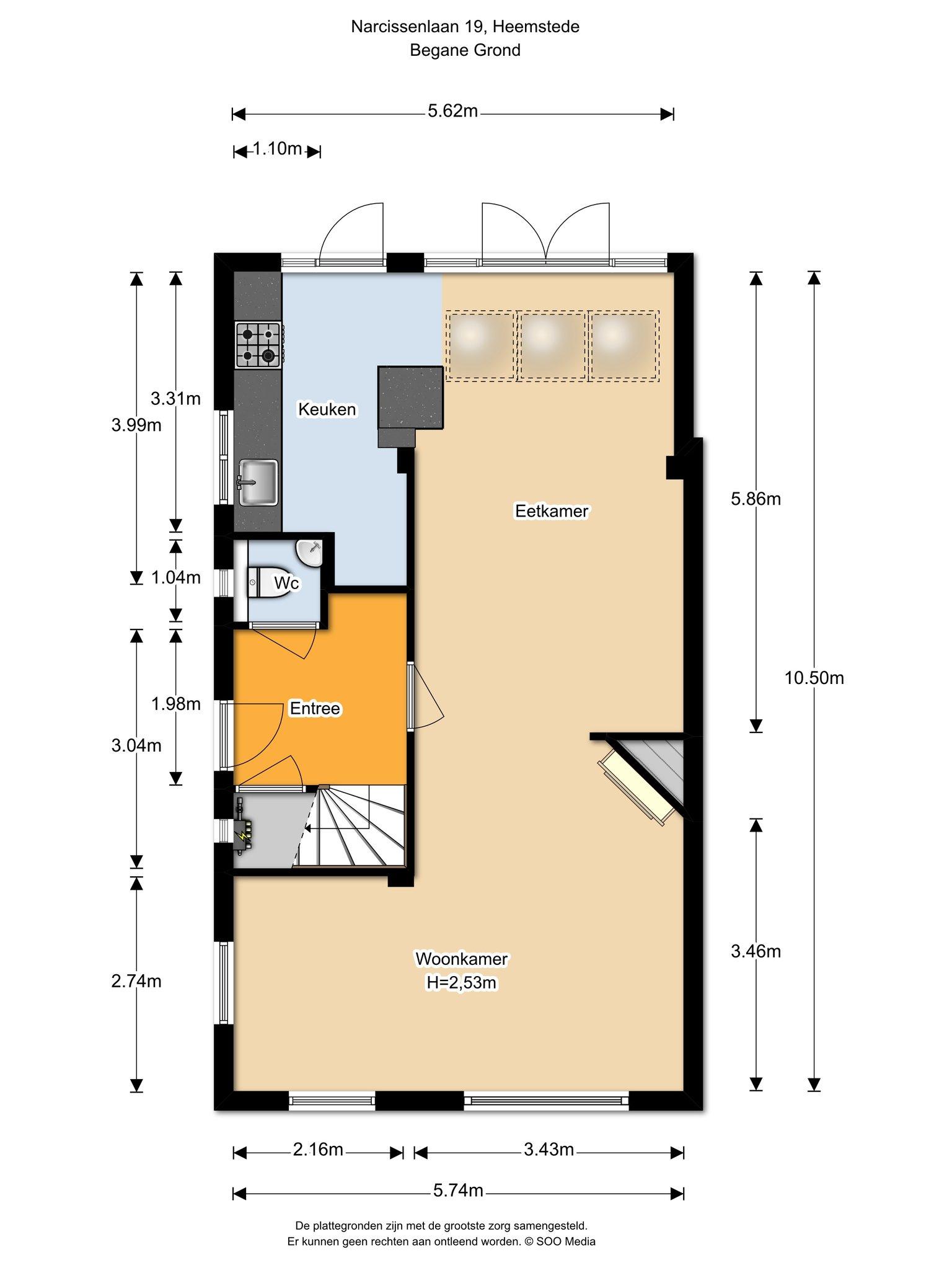 Te huur : Woonhuis Narcissenlaan 19 in Heemstede
