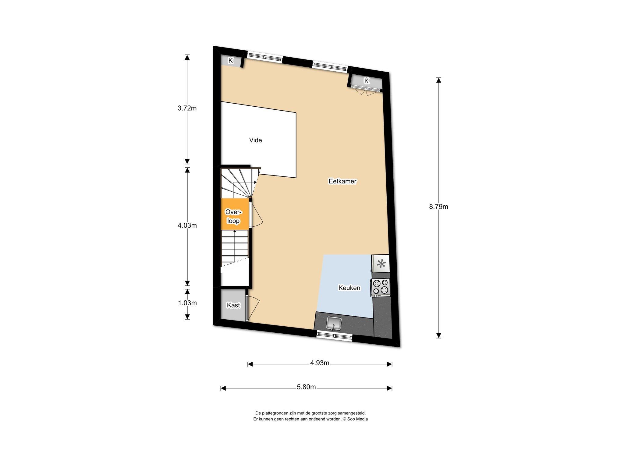 Te huur : Woonhuis Spaarne 35 in Haarlem